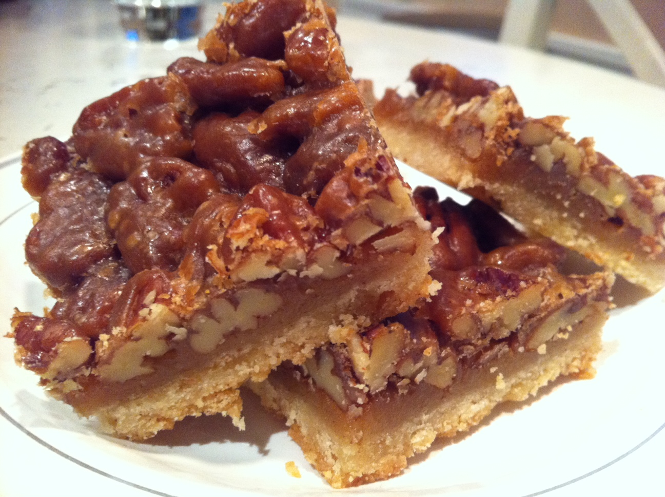 The best eggless pecan squares | Dolce Dente